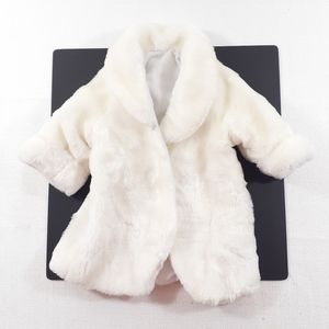 Newborn White Fur Coat